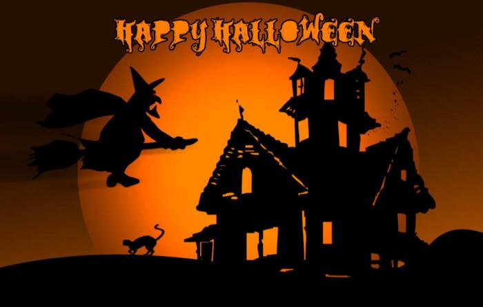 Страшные картинки с ведьмой на Хэллоуин