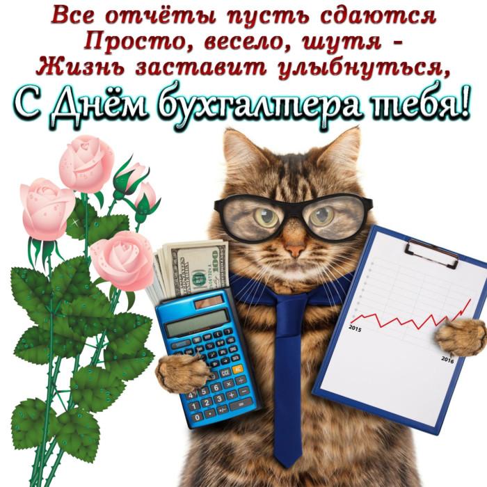 Картинка на День бухгалтера с поздравлением