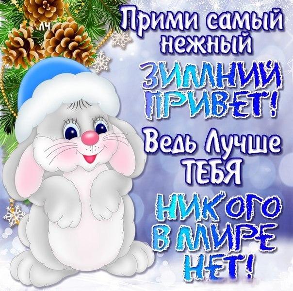 Картинка Зимний приветик прикольная и красивая