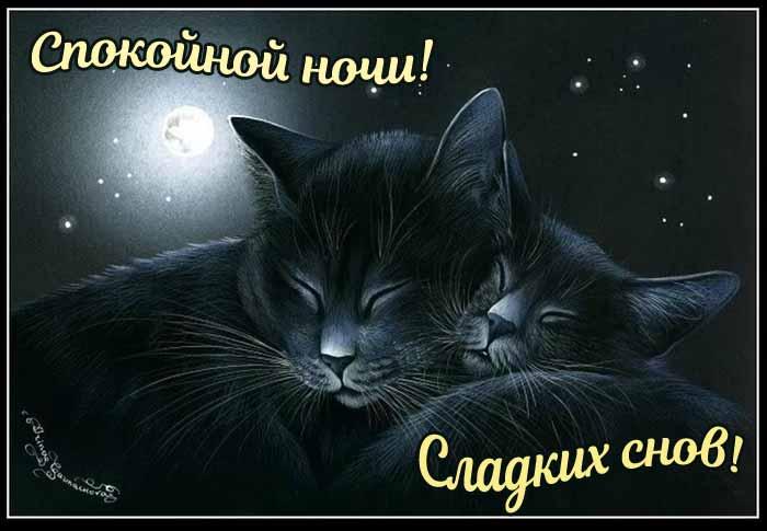 Открытки спокойной ночи и сладких снов