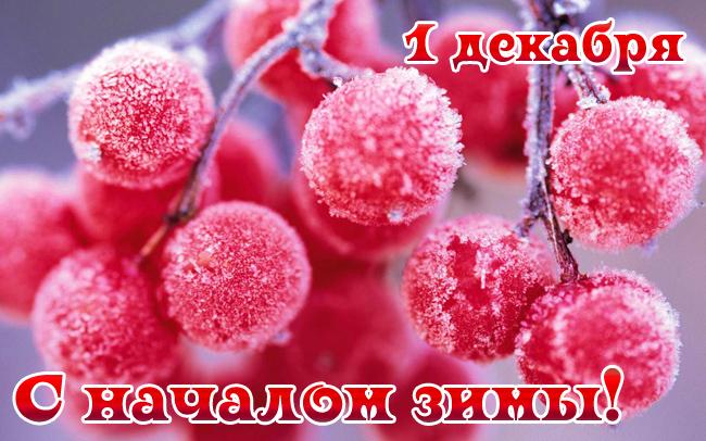 Картинка с началом зимы 1 декабря