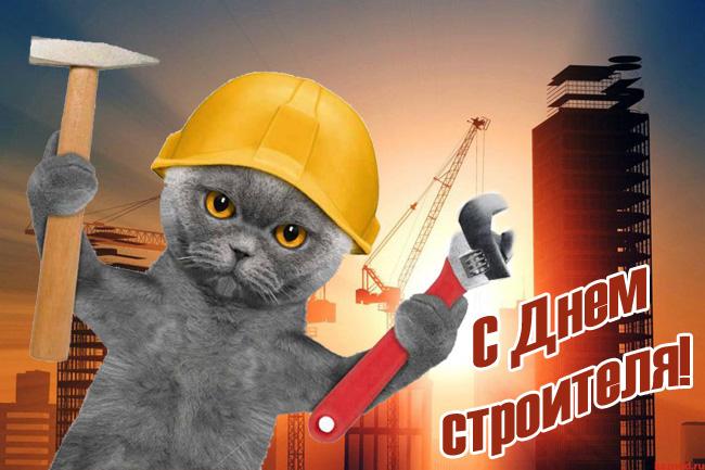 Картинки с Днем строителя прикольные и смешные